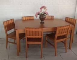 Mesa e cadeiras * madeira jatobá