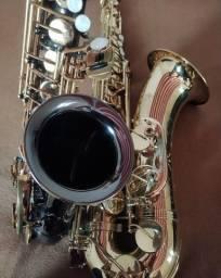 Título do anúncio:  Sax alto Black Onix+ sax tenor shelter