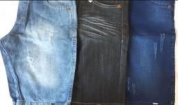 Bermudas jeans 2 x 26,14 no cartão