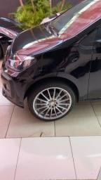 Rodas+pneus 205/40/17 UP multifuros 10x200 no Ccrédito