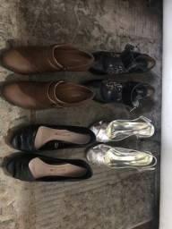 4 pares de sapatos tamanho 37 (tudo por 60 reais)