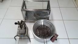 Cortador de batata Fritadeira e Estufa (não está esquentando)