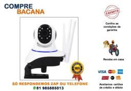Câmera Ip 3 Antenas Wifi Wireless Visão Noturna