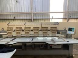 2 x maqs.de bordar industrial com 6 cabeças
