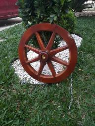 Lustre réplica roda de carroça