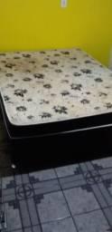 Vendo uma cama box casal Ortopédica (pouco uso).