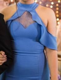Título do anúncio: Vestido de festa azul, madrinha de casamento.