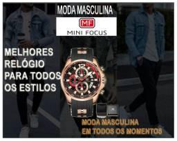 (Oferta)Mini Focus Quartzo Relógios Importado Moda Masculina