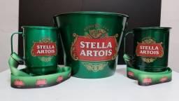 Kit balde gelo + canecas + tirantes