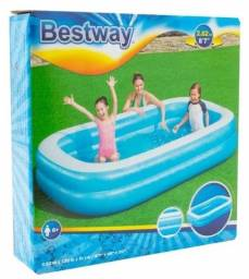 Piscina Inflável Retangular Bestway Pool 778 Litros Vinil