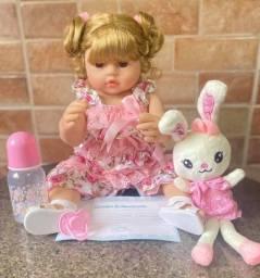 Linda Boneca bebê Reborn Loira toda em Silicone realista Nova Original (aceito cartão