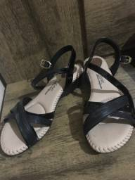 sandália feminina modare ultra conforto salto baixo Preta n 39 - NOVA (