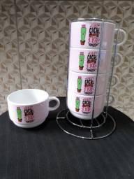 Conjunto de xícara de porcelana