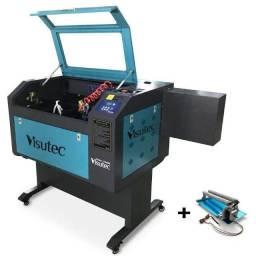 Título do anúncio: Máquina Router Laser CNC Vs6040 Corte e Gravação Completa 60x40 60W com Eixo Rotativo