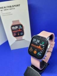 Título do anúncio: Relógio Smart Lemfo M1 - NOVO (Com monitor de saúde,redes sociais e esportes)