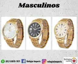 Relógios masculinos dourados