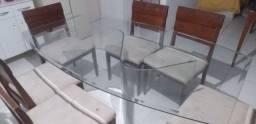 Mesa de centro toda de vidro