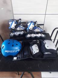 Kit mais patins semi novo barato