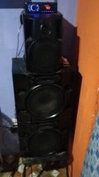caixas de som grandes com radio novo
