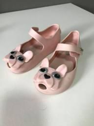 Sandália Mini Melissa infantil tamanho 22