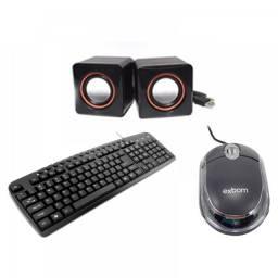 Título do anúncio: Promoção Kit Infotmatica Teclado + Mouse + Caixinha de Som