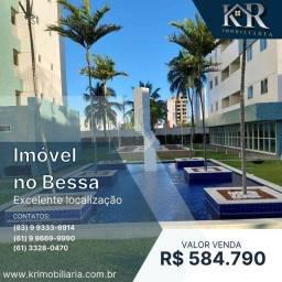 Título do anúncio: Apartamento com 3 dormitórios à venda, 79 m² por R$ 584.790,00 - Bessa - João Pessoa/PB
