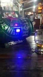 Fabrico e vendo cauxas de som no barril da Heineken