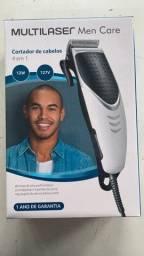Máquina de cabelo Multilaser na caixa com 4 pentes