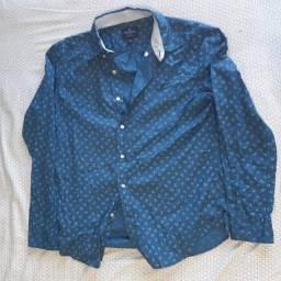 Camisa Social Azul