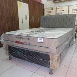 CAMA BOX CASAL MILANO MOLAS ENSACADAS imperdível 1299,00! ENTREGA IMEDIATA