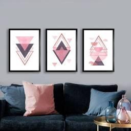 Trio pintura em tela 30×40