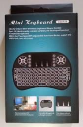 Mini Teclado sem Fio para tv box, tv, x box