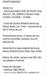 Vendo Samsung note 20