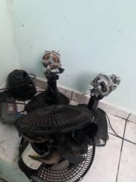 Vendo ventilador ,furadeira e motor liquidificador para retira peças