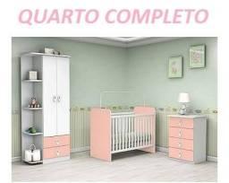 O Menor Preço do Mercado Kit Quarto Infantil(Roupeiro+Comoda+Berço)899,00
