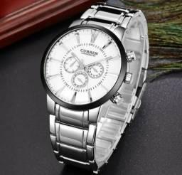 a6218c48988 Relógio De Pulso Masculino Pulseira Aço Curren