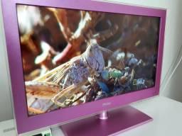LINDA TV LED ROSA 24 Polegadas Philco HDMI Com Conversor Digital