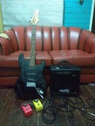 Guitarra com som e aplicadores