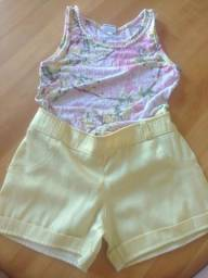 Combo de roupas de menina Semi nova