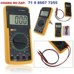 Multimetro Digital Dt-9205a c/ Aviso Sonoro e Display Lcd + Capa (Novo)