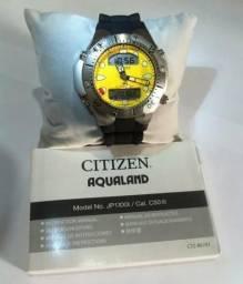 3ecbf439ef9 Relógio Citizen Aqualand Jp1060 Novo Original com Caixa e Manual Frete  grátis
