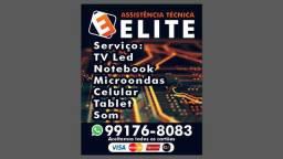 Trabalhamos com tv led ,som , microondas, notebook, celular.etc zap 99176.8083