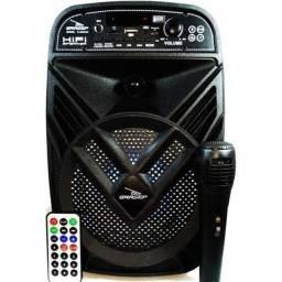 Caixa De Som Amplificada Bluetooth D-Bh6102 Grasep -Somos Loja