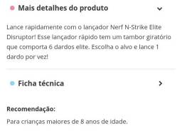 Vendo NERF ELITE DISRUPTOR
