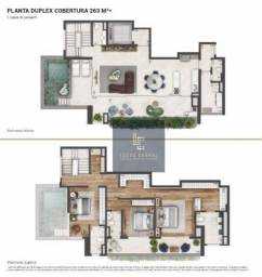 Cobertura com 4 dormitórios à venda, 263 m² por R$ 3.704.039 - Real Parque - São Paulo/SP