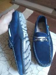 Sapato mocassim couro