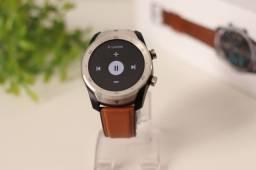 Smartwatch DT79 Original Faz e Atende Ligação Pulseira Marrom Cartão Entrego