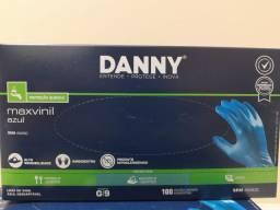 Luva de Vinil S/ Pó Tamanho G CX 100 UN - Danny