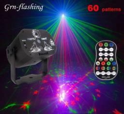 Laser Holográfico Festas Função Strobo Com Sensor De Som 60 Padrões de Imagens