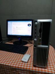 Computador completo HD de 500gb memória RAM de 2GB Windows 7